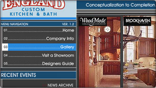 Website Design for New Engald Custom Kitchen and Bath